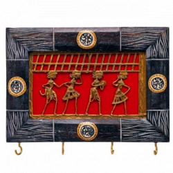 Ethnic Dhokra Warli Work Key Ring Holder