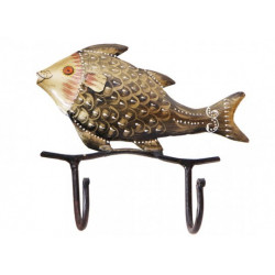 Golden Fish Design Wall Key Holder