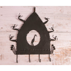 Tribal Wrought Iron Bird Wall Hanger