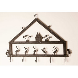 Tribal Wrought Iron Wall Hanger
