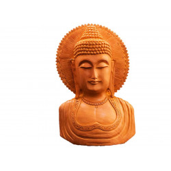 Wooden Decorative Buddha Face Sculpture