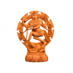 Carved Wooden Natraj Decorative Statue