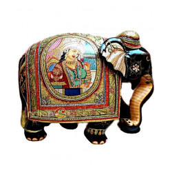 Wooden elephant Royal Painted