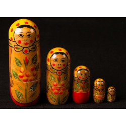 Handpainted Wooden - Doll (Set of 5)